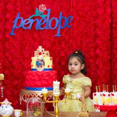Penelope's Beauty and the Beast 2nd birthday party  - Beauty and the beast