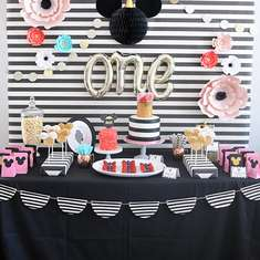 Florals & Stripes Minnie Mouse 1st Birthday - Minnie Mouse