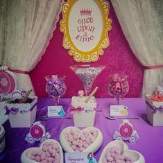 Pink & Violet Baptism for twins - Disney Princess