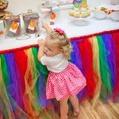 Abby's Rainbow 2nd Birthday party - Balloon Rainbow