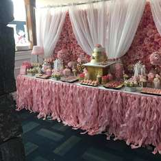 Kristi's Fabulous Bridal Shower - Pink, Gold, White, and Roses