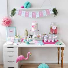 Pink Flamingo birthday party - Tropical Party