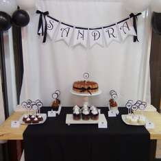 Black and White birthday party - Black and White