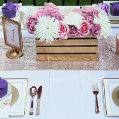 Romantic Garden Wedding - Purple, Pink and Gold Wedding