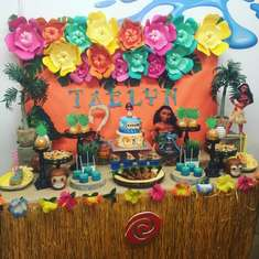 Taelyn' Moana Birthday Party  - Moana