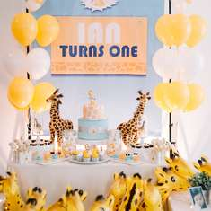 Giraffe 1st birthday party - Giraffe Theme