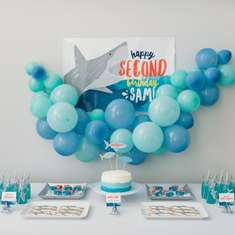 Sam's Jawsome 2nd Birthday Party - Sharks