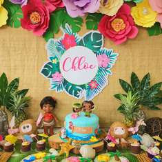 Chloe's Tropical Moana Party  - Moana