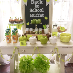 Back to School Breakfast Buffet - Green Apple