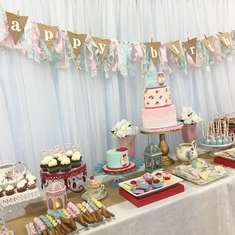 Penelope's 1st Tea Party  - Vintage tea party 1st birthday