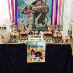 Mia's Moana birthday party - Moana