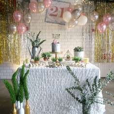 Marble Theme 21st birthday party - Marble Theme