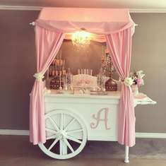 Candy cart baby shower  - Foot prints baby shower