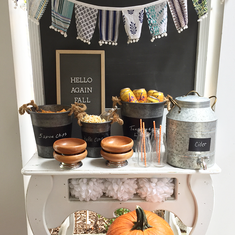 Welcome Fall Treat Table - Fall