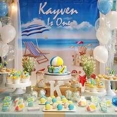 Beach 1st Birthday party - Beach Theme