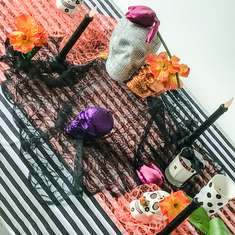 Chic Day of the Dead Halloween Tablescape - Halloween