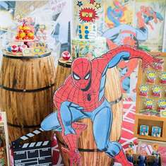 Jayden's Rustic Spiderman theme Birthday - Spiderman