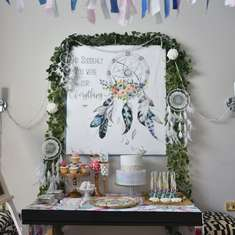 Boho chic birthday for Agustina - Boho Chic, slumber party