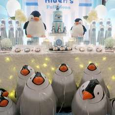 Full Moon - Penguin Baby Shower - Full Moon - Penguin Theme