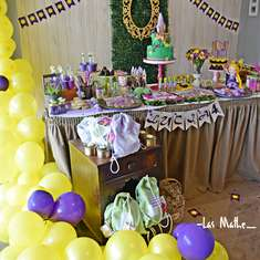 Rapunzel birthday party - Princesa Rapunzel