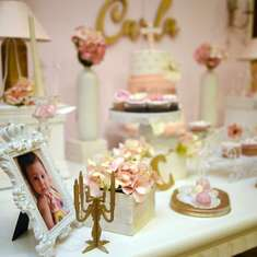 Carla 's Baptism Party - Elegant Pinky Baby Girl Theme
