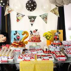 Vintage Mickey Themed 2nd Birthday - Mickey Mouse