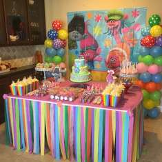 Briana Trolls birthday party - Trolls