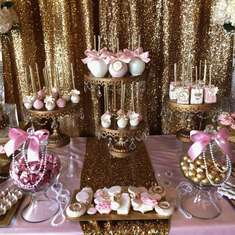 The Webb's Pink & Gold Baby Shower - Pink & Gold It's a girl!