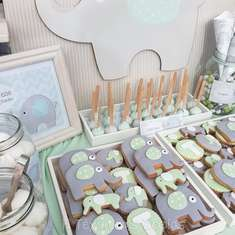 Cute Elephant Themed Baptism - Elephants