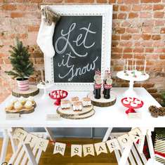 """Let it Snow"" Christmas party - DIY"