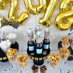 New Year's Eve Popcorn Bar - New Year's