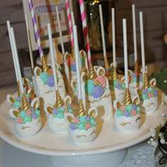 Vintage Unicorn 1st birthday party - unicorn