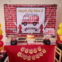 Aisyah Lily's Fire Station Party - Fire Truck / Firefighter