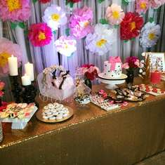 Elegant Kate Spade Theme Baby Shower Dessert Table - Kate Spade