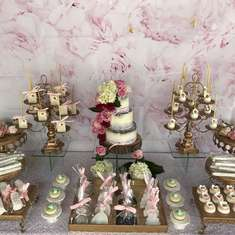Beautiful Elegant Flower Theme Dessert Table - Elegant