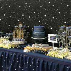 Galaxy Theme Party Dessert Table - Galaxy