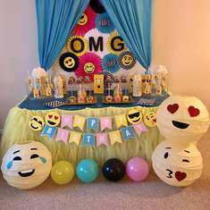 Emoji Themed 15th Birthday Party - Emoji