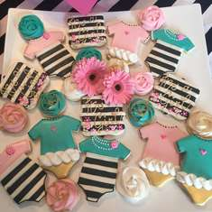 Shannon's baby shower - Stripes and florals