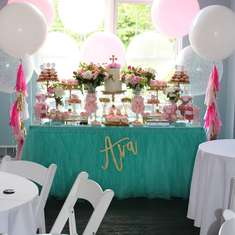 Ava's Pretty-in-Pink First Communion Party! - Pink Peony First Communion