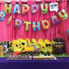 Aria's Emoji 5th Birthday party - Emoji
