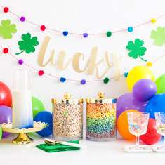 St. Patrick's Day Party Table - Rainbows