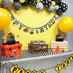 Construction Birthday Party - Construction