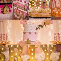Sriya's Pink and gold First Birthday party - Pink and gold