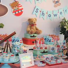 Thiago's Baby Shower con ositos - Osito Marinero