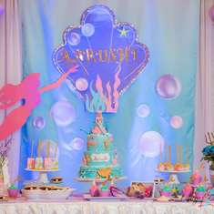 Aarushi's mermaid 1st birthday party - Mermaid theme