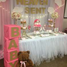 Rachel's Heaven Sent Baby Shower  - Heaven Sent