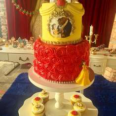 My Little Beauty and the Beast birthday party - Belle / Beauty and the Beast