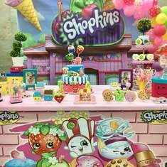 Colorful Shopkins birthday party - Shopkins