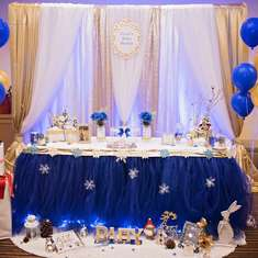 Royal Blue baby shower - Snow theme