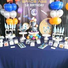 Space Theme Birthday Party - Space Theme